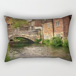 Winchester City Bridge and Mill Rectangular Pillow