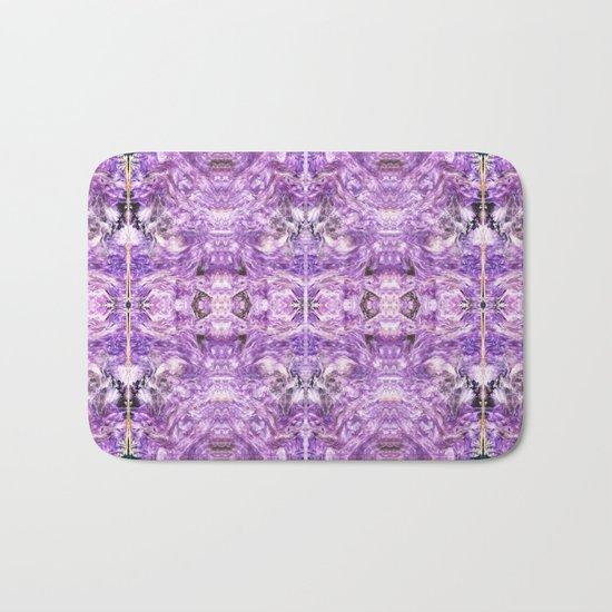 lilac stone flower Bath Mat