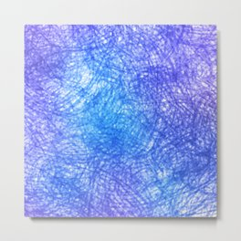 Minimalist Blue Watercolor Design Metal Print