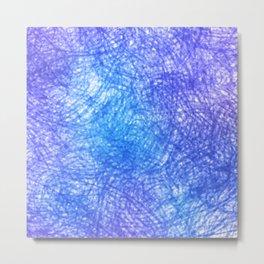 Minimalist Blue Watercolor Design Metal Print