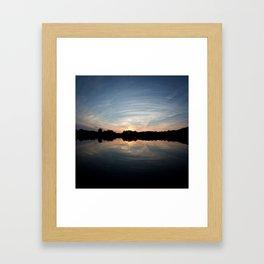 Wide Sunset Framed Art Print