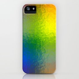 Rainbow Abstract Gradient Painted Pattern iPhone Case