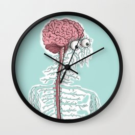 don´t be superficial, look inside me Wall Clock