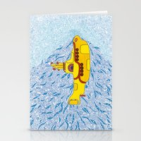 yellow submarine Stationery Cards featuring My Yellow Submarine by Cris Couto