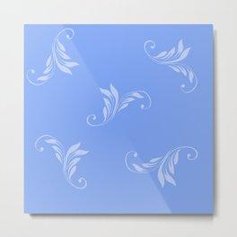 Blue on Blue Metal Print