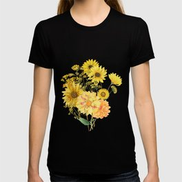 Vintage & Shabby Chic - Late Summer Flowers T-shirt