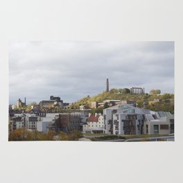 View of Holyrood and Calton Hill Edinburgh Rug