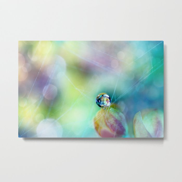 Rainbow Drop Metal Print