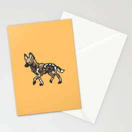 8-bit African Wild Dog Stationery Cards
