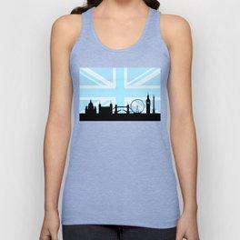 London Sites Skyline and Blue Union Jack/Flag Unisex Tank Top