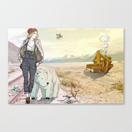 Double Biscuit Dunker  Canvas Print