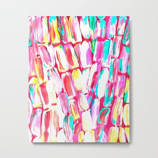 Pink Party Sugarcane Metal Print