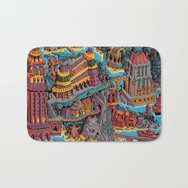 Mumbo Jumbo City (Color) Bath Mat