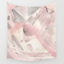 Morganite Crystal Watercolor Wall Tapestry