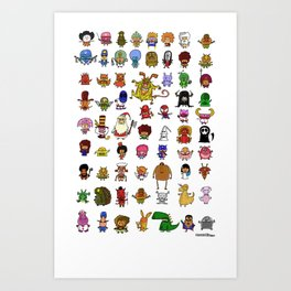 LittleWeirdos Art Print