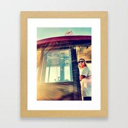 Shuuu....Hold on. Framed Art Print