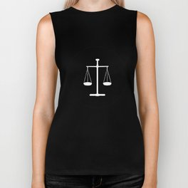 Scales of justice Biker Tank