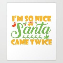 Sexy Christmas Versaut Santa funny gift Art Print