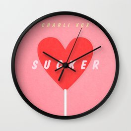 SUCKER / Charli XCX Wall Clock