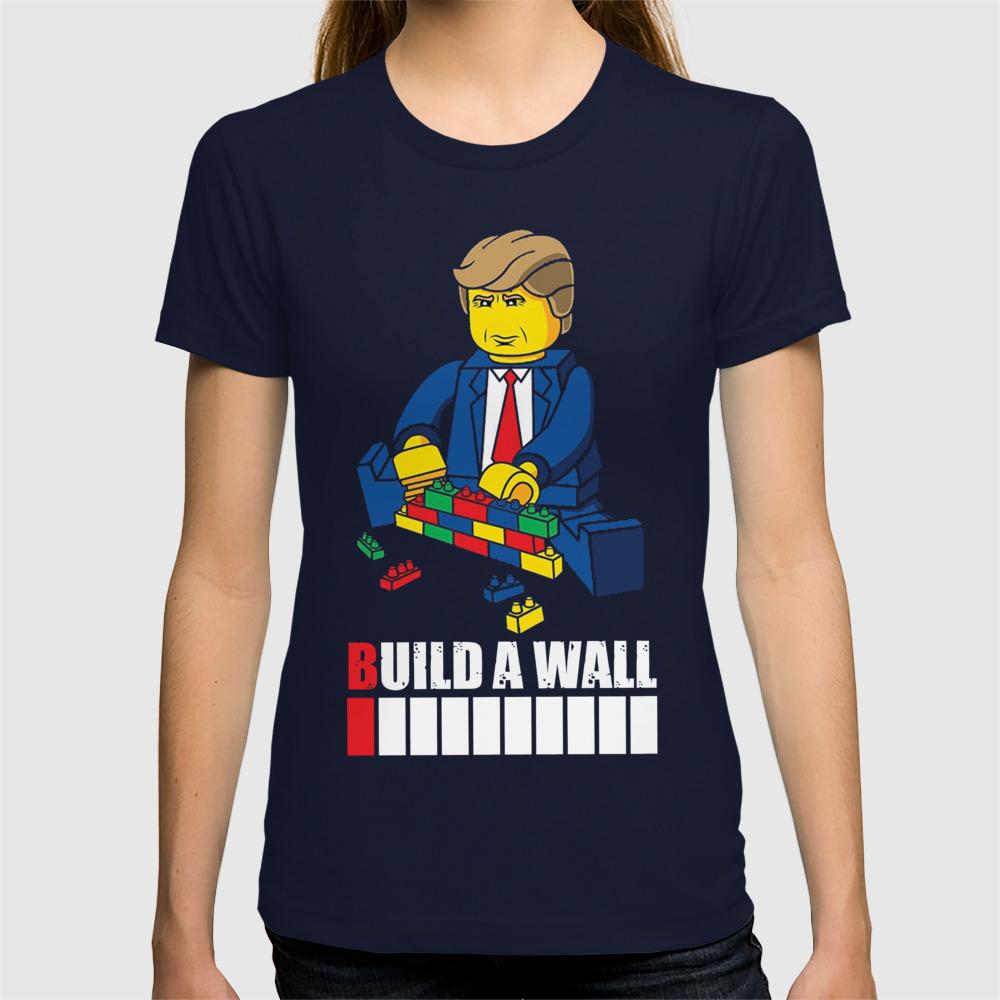 7e0b157dd3ea Trump T-Shirt Build a Wall Tee T-shirt by vanmuoivp | Society6