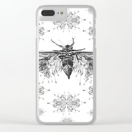 Monster Cicada Pattern Clear iPhone Case