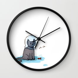 Jellybean and the fishbowl Wall Clock