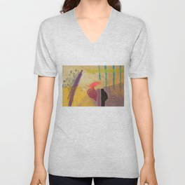 Abstract 1 Unisex V-Neck