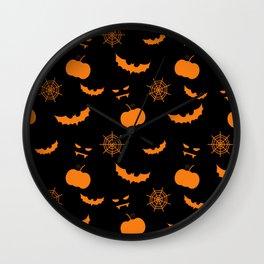 Helloween pattern Wall Clock
