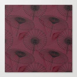 Japanese Umbrella pattern #7 Canvas Print