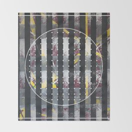 Polarized - dot circle graphic Throw Blanket
