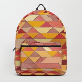 Triangle Pattern no.4 Warm Colors Red and Yellow Backpack
