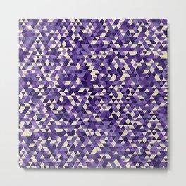 Purple Triangles Metal Print