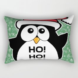 Penguin Christmas Funny Cute Santa Claus Rectangular Pillow