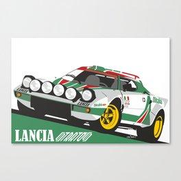 Lancia Stratos Alitalia livery Canvas Print