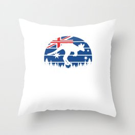 Proud Australian Australia National Pride Patriotic Australian Kangaroo Gift Throw Pillow