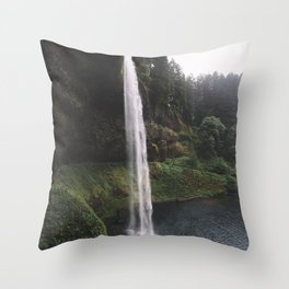 The Falling of Water Throw Pillow