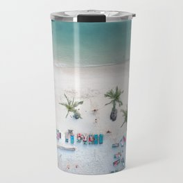 Aerial Koh Phangan Beach Travel Mug