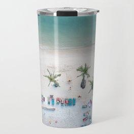 Aerial Koh Phangan Beach Travel Mug
