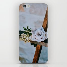 Rose on the Cross (Color) iPhone Skin