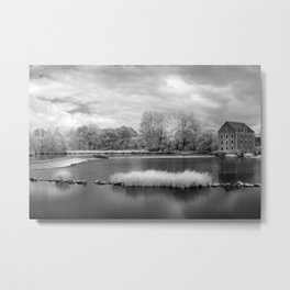France, A Weir on the Mayenne River (version 2) Metal Print
