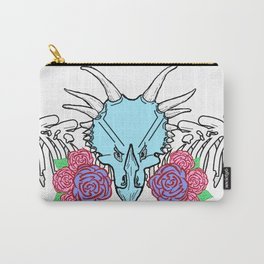 Lady Triceratops Carry-All Pouch
