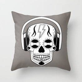 Groovy Skull Throw Pillow