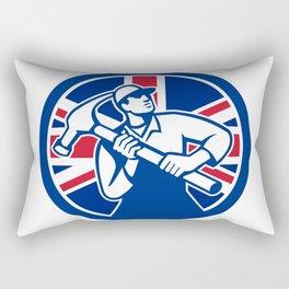 British Joiner Union Jack Flag Icon Rectangular Pillow