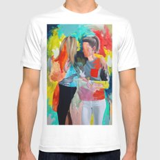 Sam and Mon White MEDIUM Mens Fitted Tee