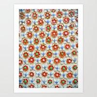 Tile Pattern #2 Art Print