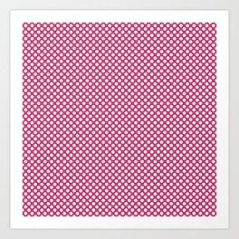 Raspberry Sorbet and White Polka Dots Art Print