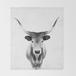 Honey - black and white Throw Blanket