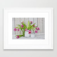 tulips Framed Art Prints featuring Tulips by LebensART Photography