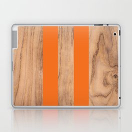 Wood Grain Stripes - Orange #840 Laptop & iPad Skin
