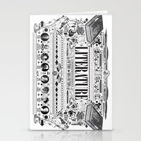 literature Stationery Cards featuring Literature Poster by Ryan Huddle House of H